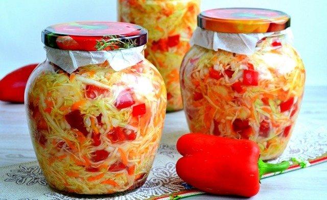 Салаты из овощей впрок- рецепты и идеи