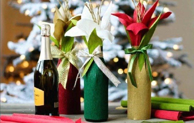 Как красиво упаковать подарочную бутылку: советы, идеи и МК