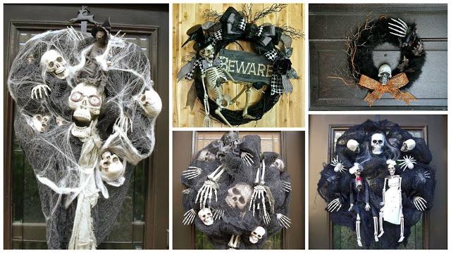 фото, венки, фотографии, фотоидеи венков, страшные венки на дверь, ужасы, реальность, Хэллоуин, декор на Хэллоуин, декор на дверь, украшение дома на Хэллоуин, праздничный декор на Хэллоуин, 31 октября, Хэллоуин, украгения интерьера на Хэллоуин, вечеринка на Хэллоуин, Хэллоуин для детей, Хэллоуин для взрослых, иукоделие на Хэллоуин, Halloween, All Hallows' Eve, All Saints' Eve, «Потусторонние» венки для интерьера на Хэллоуин и не только!,