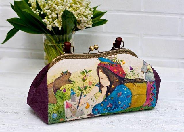 Шьем кошельки и сумочки с фермуаром: шаблоны и мастер-классы