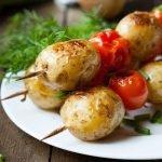 Овощи на шампурах:идеи, рецепты, советы