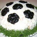 Салаты «Футбол»: варианты рецептов, идеи оформления и советы