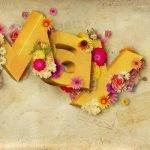 Алфавиты цветочные и растительные (латиница и кириллица) для веб-дизайна