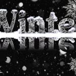 Зимние алфавиты и надписи для веб-дизайна