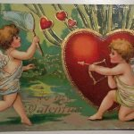 St. Valentine's Day — открытки ретро ко Дню влюбленных