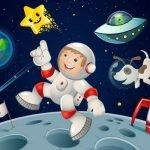 Веселые детские частушки на День космонавтики