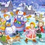 Зимние загадки для детей: о зиме и зимних праздниках (часть 2)